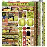 Softball Cardstock Sticker Sheet - Reminisce