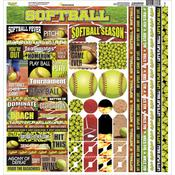 Softball Cardstock Sticker Sheet - Reminisce