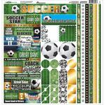 Soccer Cardstock Sticker Sheet - Reminisce