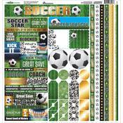 Soccer Cardstock Sticker Sheet - Reminisce
