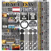 The Running Collection Cardstock Sticker Sheet - Reminisce