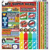 My Super Hero Cardstock Sticker Sheet - Reminisce