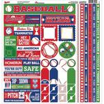 Baseball Cardstock Sticker Sheet - Reminisce