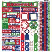 Baseball Cardstock Sticker Sheet - Reminisce