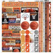 Basketball Cardstock Sticker Sheet - Reminisce
