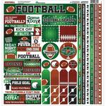 Football Cardstock Sticker Sheet - Reminisce