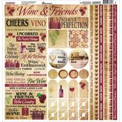 The Winery Cardstock Sticker Sheet - Reminisce