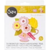 Tea Cup Bouquet - Sizzix Bigz Die W/Bonus Textured Impressions