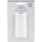Lily White - Doodlebug Monochromatic Chunky Twine 20yd