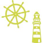 """Lighthouse & Ships Wheel 3.5""""X1"""" - Kaisercraft Dies"""