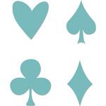 """Card Suits 1.25""""X1"""" - Kaisercraft Dies"""
