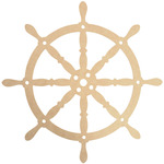 Beyond The Page MDF Captain's Wheel Wall Art