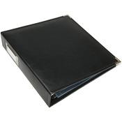 """Black - We R Classic Leather 3-Ring Album 8.5""""X11"""""""