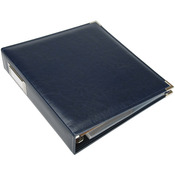 "Navy - We R Classic Leather 3-Ring Album 8.5""X11"""