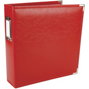 """Real Red - We R Classic Leather 3-Ring Album 8.5""""X11"""""""