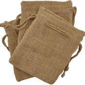 """4""""X5"""" - Lucky Dip Jute Bags 3/Pkg"""
