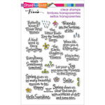 "Spring Sentiments - Stampendous Perfectly Clear Stamps 4""X6"""