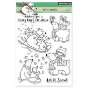 """Artic Antics - Penny Black Clear Stamps 5""""X7"""""""