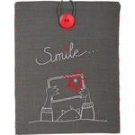 "8.25""X10.25"" - Smile iPad Cover Stamped Embroidery Kit"