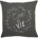 "16""X16"" - C'est La Vie Cushion Stamped Embroidery Kit"