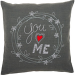 "16""X16"" - You & Me Cushion Stamped Embroidery Kit"