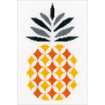 "6.25""X10.25"" 14 Count - Pineapple On Aida Counted Cross Stitch Kit"