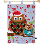 "16""X21"" - Christmas Owls Advent Calendar Cross Stitch Kit"
