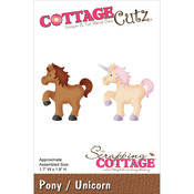 "Pony/Unicorn 1.7""X1.8"" - CottageCutz Die"