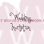 """Wedding Invitation - Woodware Clear Stamps 2.5""""X1.75"""" Sheet"""