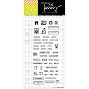 "Home Planner - Kelly Purkey Clear Stamps 2.5""X6"""