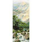 "8""X19.75"" 14 Count - Mountain River II Counted Cross Stitch Kit"
