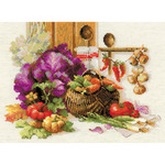 """15.75""""X11.75"""" 10 Count - Rich Harvest Counted Cross Stitch Kit"""