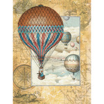 """11.75""""X15.75"""" 14 Count - Around The World Counted Cross Stitch Kit"""