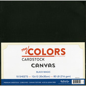 "Black Magic - My Colors Canvas Cardstock Bundle 12""X12"" 18/Pkg"
