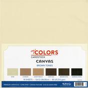 """Brown Tones - My Colors Canvas Cardstock Bundle 12""""X12"""" 18/Pkg"""