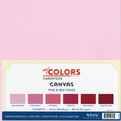 "Pink & Red Tones - My Colors Canvas Cardstock Bundle 12""X12"" 18/Pkg"
