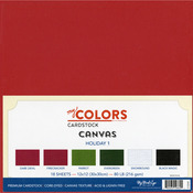 "Holiday 1 - My Colors Canvas Cardstock Bundle 12""X12"" 18/Pkg"
