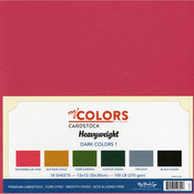 Darks - My Colors Heavyweight Cardstock Bundle 18/Pkg