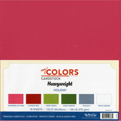 Holiday - My Colors Heavyweight Cardstock Bundle 18/Pkg