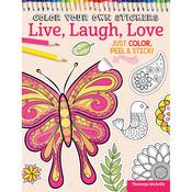 Color Your Own Sticker Live,laugh,love - Design Originals