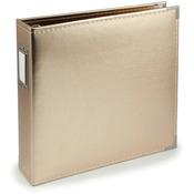 "Gold - We R Classic Leather 3-Ring Album 12""X12"""