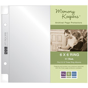 """Full Page - We R Ring Photo Sleeves 6""""X6"""" 10/Pkg"""
