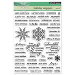 "Holiday Snippets - Penny Black Clear Stamps 5""X7"""