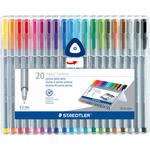 Multi - Triplus Fineliner Pens 20/Pkg