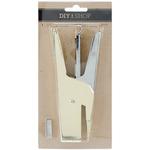 Gold - DIY Shop 3 Heavy Duty Mini Stapler W/100 Staples