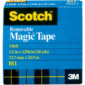 "Scotch (R) Removable Tape .50""X36yd"