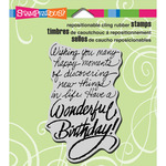 "Birthday Wish - Stampendous Cling Stamp 3.5""X4"""