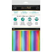 """Rainbow - Deco Foil 6""""X12"""" 20/Pkg"""