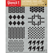 Patterns Theme - Stencil1 Set 8/Pkg