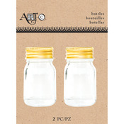 Small Mason, 2/Pkg - Art-C Mini Glass Bottles
